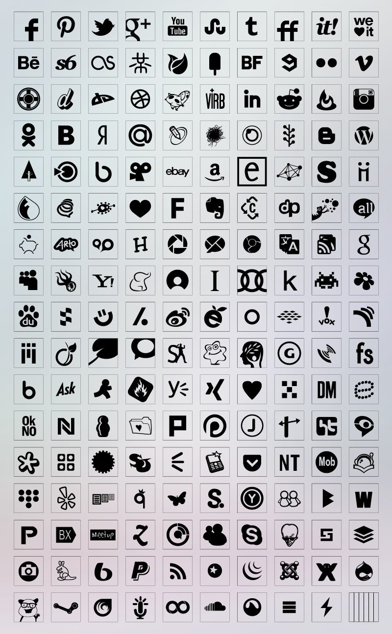 Transparent social icons
