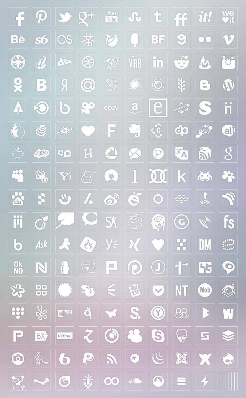 transparent background white color icons set