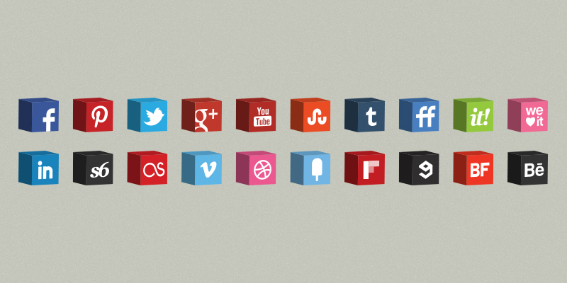 3d cube icons set