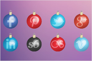 social media christmas toys icons set preview