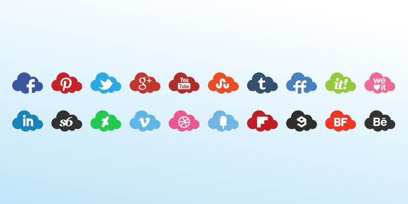 clouds icons set