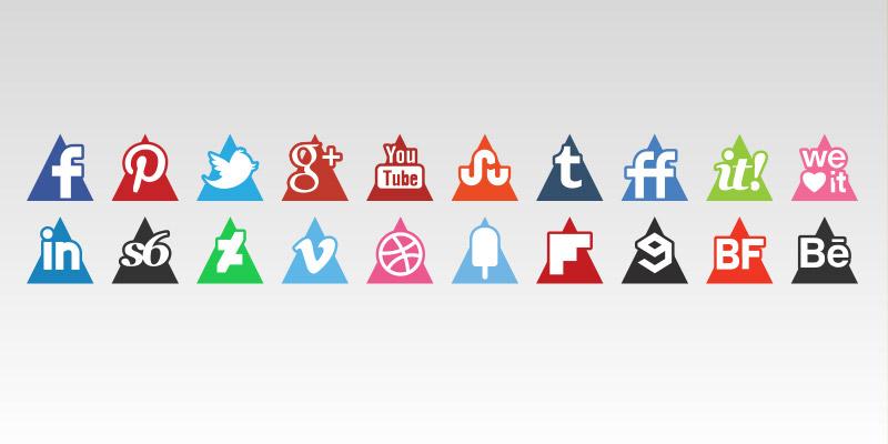 Triangles media icons