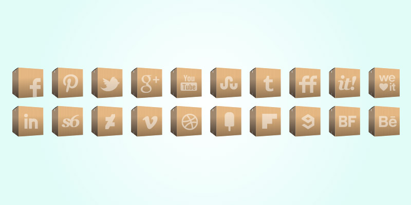 social delivery icons