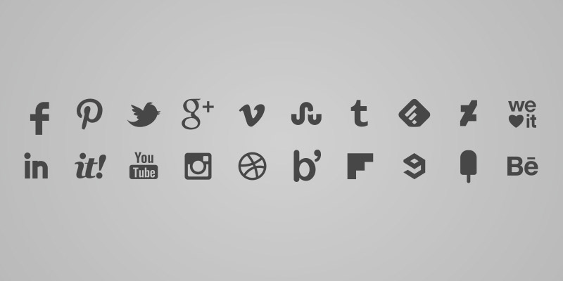 Grey transparent background icons