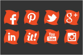 social media icons orange twist preview