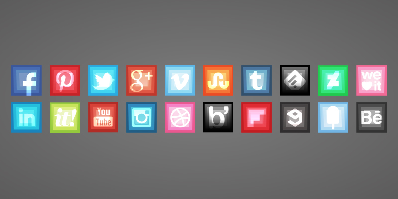 surrealistic square icons