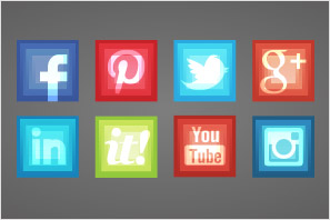 social media icons surrealistic square preview